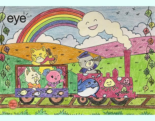 2012两岸儿童绘画,书法比赛绘画a组银奖作品图片